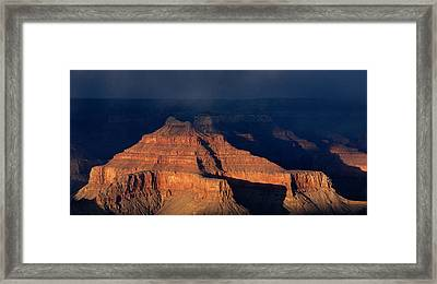 Storm Clouds Over Grand Canyon Az Framed Print by Panoramic Images