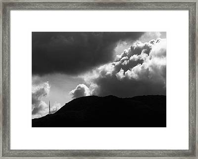 Storm Clouds Over Griffith Park Framed Print by Ron Regalado