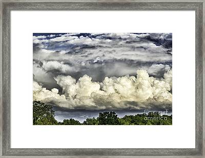 Storm Clouds Over Mountain Framed Print by Thomas R Fletcher