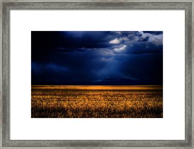 Storm Clouds Over The Timberline Framed Print by Joshua Dwyer