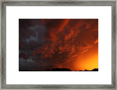 Framed Print featuring the photograph Storm Clouds Over Yorkton II by Ryan Crouse