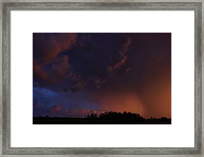 Storm Clouds Over Yorkton IIi Framed Print by Ryan Crouse