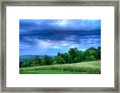 Storm Clouds Framed Print by Paul Herrmann