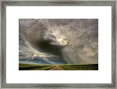 Storm Clouds Prairie Sky Saskatchewan Framed Print by Mark Duffy
