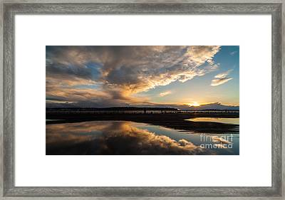 Storm Clouds Reflected Framed Print