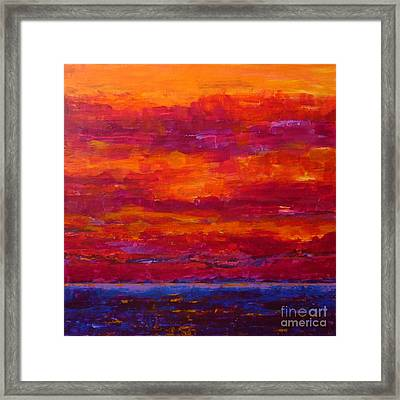 Storm Clouds Sunset Framed Print by Gail Kent
