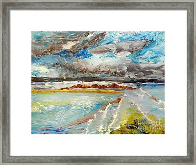 Storm Coming At Austinmer Beach Framed Print