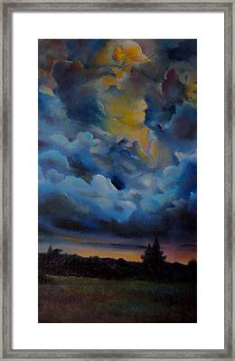 Storm Coming At The Sunset Framed Print by Alessandra Andrisani