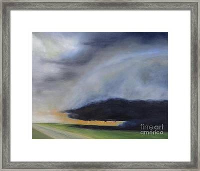 Storm Coming.. Framed Print