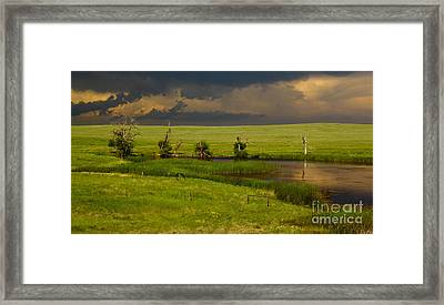 Storm Crossing Prairie 1 Framed Print