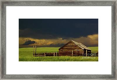 Storm Crossing Prairie 2 Framed Print by Robert Frederick