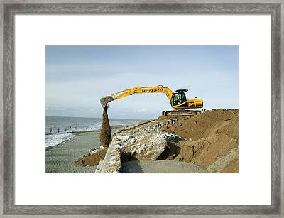 Storm Damage Near Silloth Framed Print by Ashley Cooper