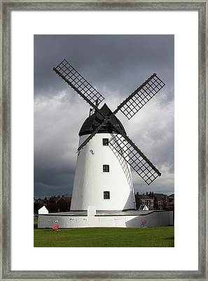Storm Damage To Windmill Framed Print by Ashley Cooper