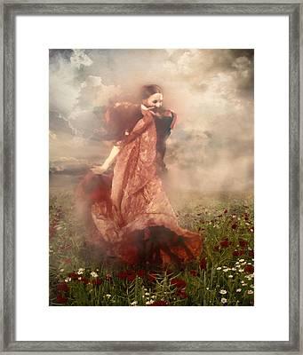 Storm Dancer Framed Print by Georgiana Romanovna