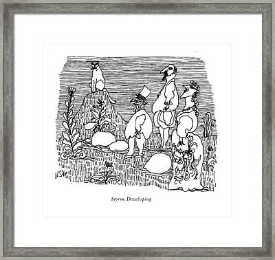 'storm Developing' Framed Print by William Steig
