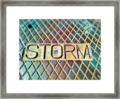 Storm Drain Framed Print by Olivier Calas