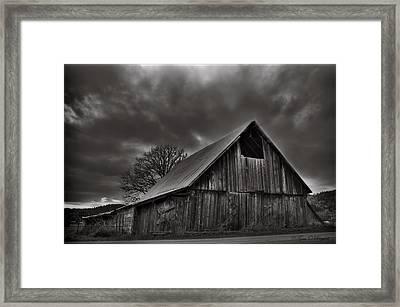 Storm Elegance Framed Print