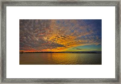 Storm Front Sunset II Framed Print by Dan Holland