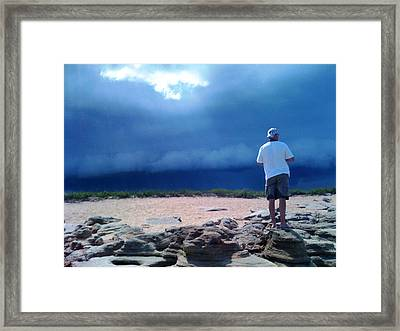 Storm Gazer Framed Print by Julie Wilcox