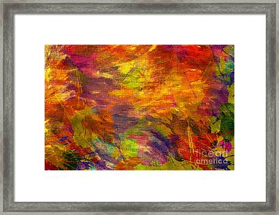 Storm In A Paint Pot Framed Print by Kaye Menner