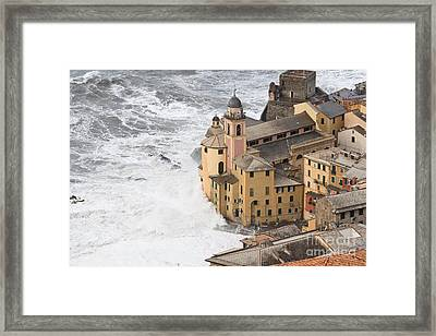 Storm In Camogli Framed Print