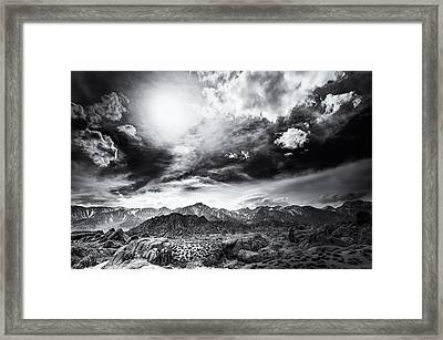 Storm In The Alabama Hills Framed Print by Jennifer Magallon
