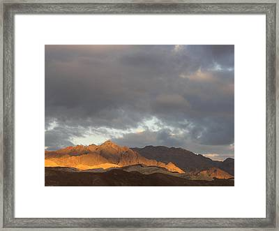 Storm In The Desert Framed Print by Jenny Fish