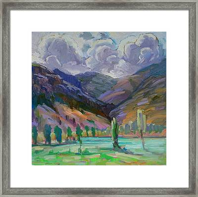 Storm In The Mountains Framed Print by Gregg Caudell