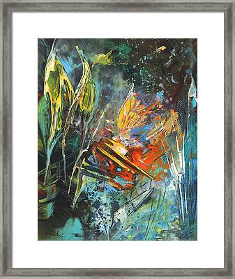 Storm In The Night Framed Print by Miki De Goodaboom