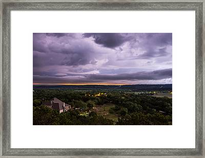 Storm In The Valley Framed Print by Darryl Dalton