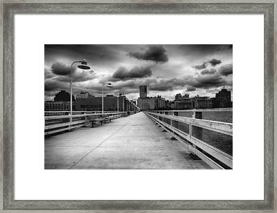 Storm In View Framed Print