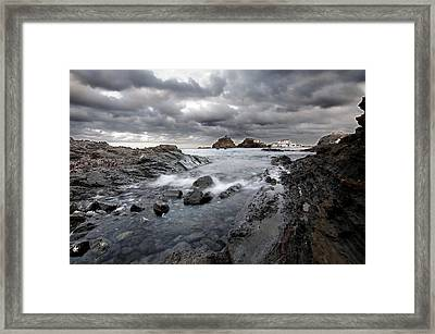 Storm Is Coming To Island Of Menorca From North Coast And Mediterranean Seems Ready To Show Power Framed Print by Pedro Cardona