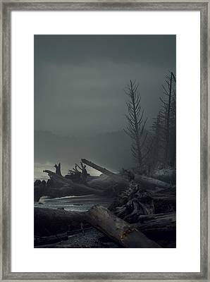 Storm Is Not Over. Framed Print by Yulia Kazansky