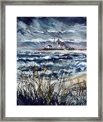 Storm On Block Island Sound Framed Print