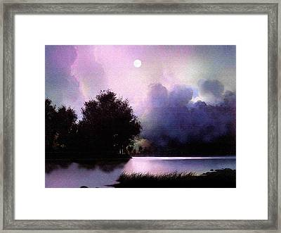 Storm Lake Framed Print by Robert Foster