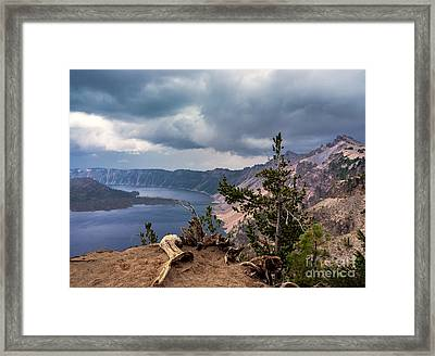 Storm Looming Framed Print