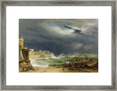Storm Malta Framed Print by John or Giovanni Schranz