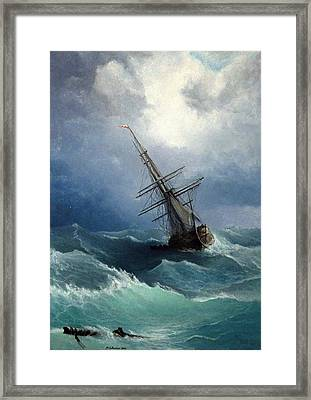 Framed Print featuring the painting Storm by Mikhail Savchenko
