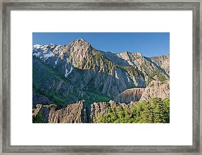 Storm Mountain, Big Cottonwood Canyon Framed Print