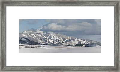 Storm Mountain Nw Face Framed Print