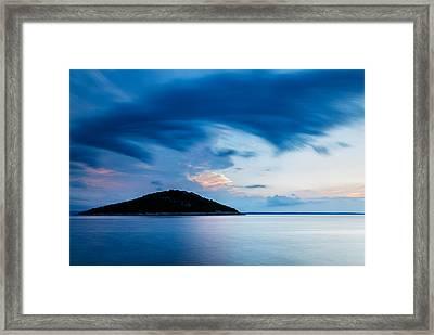 Storm Moving In Over Veli Osir Island At Sunrise Framed Print