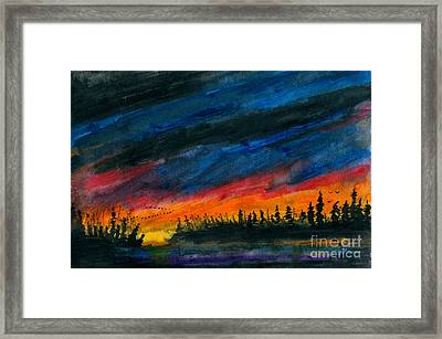 Storm Moving Out Framed Print by R Kyllo