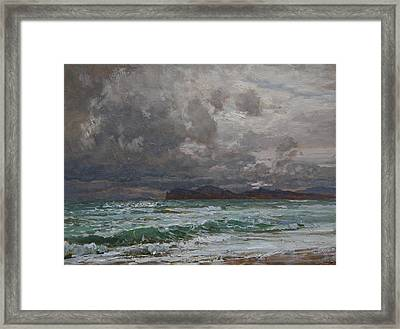 Storm On Black Sea Framed Print by Korobkin Anatoly