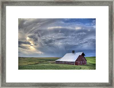 Storm On Jenkins Rd Framed Print by Latah Trail Foundation