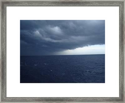 Storm On Ocean Horizon Framed Print