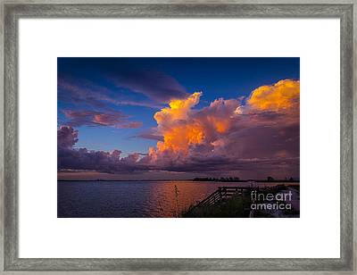 Storm On Tampa Framed Print by Marvin Spates