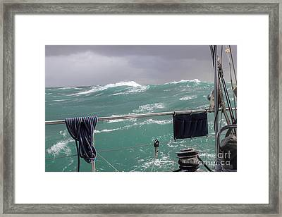 Storm On Tasman Sea Framed Print by Jola Martysz