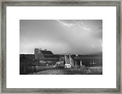 Storm On The Farm In Black And White Framed Print by James BO  Insogna