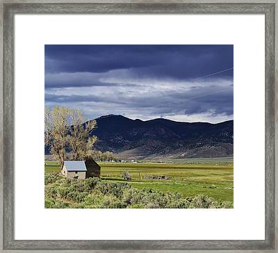 Storm On The Horizon Framed Print by Bruce Bley