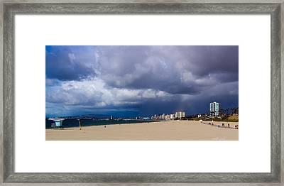 Storm On The Horizon Framed Print by Heidi Smith